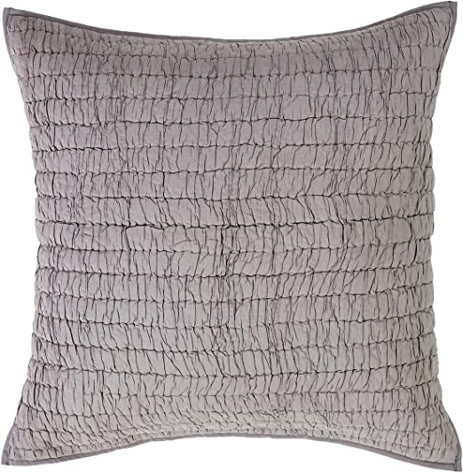 The Pillow Collection Galen Graphic Bedding Sham Metal Euro//26 x 26