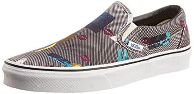 d2596f1b745 Vans Men s Classic Slip-On Van Doren Black and 80 S Lips Canvas Boat Shoes -