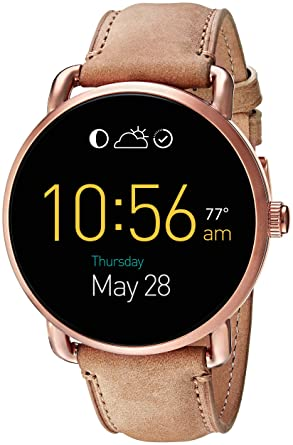61893db0251 Fossil Q Wander Gen 2 Light Brown Leather Touchscreen Smartwatch FTW2102