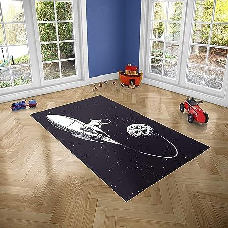 Oedim Alfombra Infantil Espacio para Habitaciones PVC   95 x