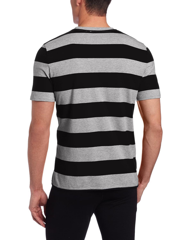 BOSS HUGO BOSS Mens Stripe Crew Neck Lounge Shirt 50237885