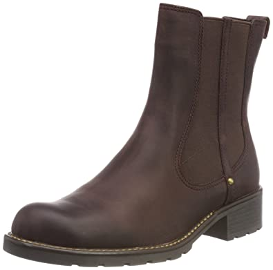 Clarks Orinoco Club, Damen Halbschaft Stiefel, Braun (Burgundy Leather),  35.5 EU