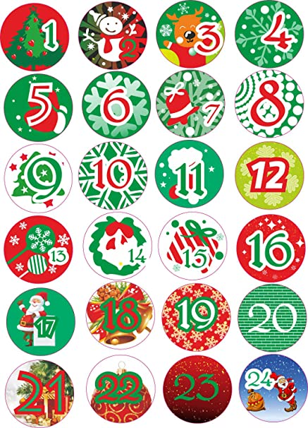 Amazon Indigos Ug Advent Calendar Numbers Stickers 1 To 24