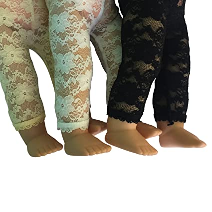 "Set of 3 Lace Leggings for 18/"" inch Dolls Lace Leggings Unique look"