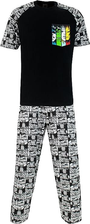 Official Marvel Avengers Hulk Iron Man Thor Long Sleeve Pyjamas PJs 3-10yr