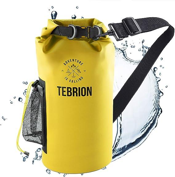 Boncas Waterproof Dry Bag Waterproof Roll Top Bag Dry Sack Perfect for Kayaking 10L 20L 30L Waterproof Backpack with Phone Pounch Fishing Rafting