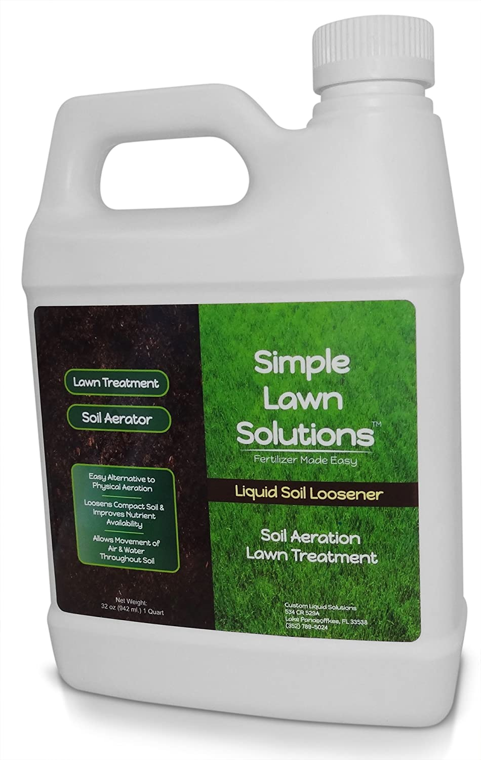 Liquid Aerating Soil Loosener- Aerator Soil Conditioner- No Mechanical or  Core Aeration- Simple Lawn Solutions- Any Grass Type, All Season- Great for