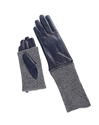 5bd412ca1 YISEVEN Women's Winter Touchscreen Lambskin Leather Long Gloves Wool Cuff  Hand Warm Fleece Lined Heated Lining