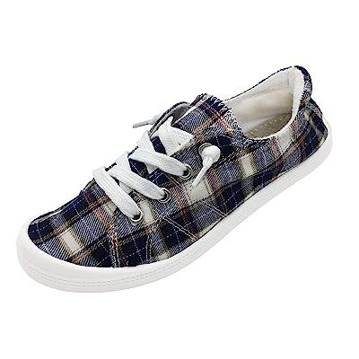 BENEKER Women's Low Top Canvas Sneakers Slip-On Comfort Shoes   Fashion Sneakers