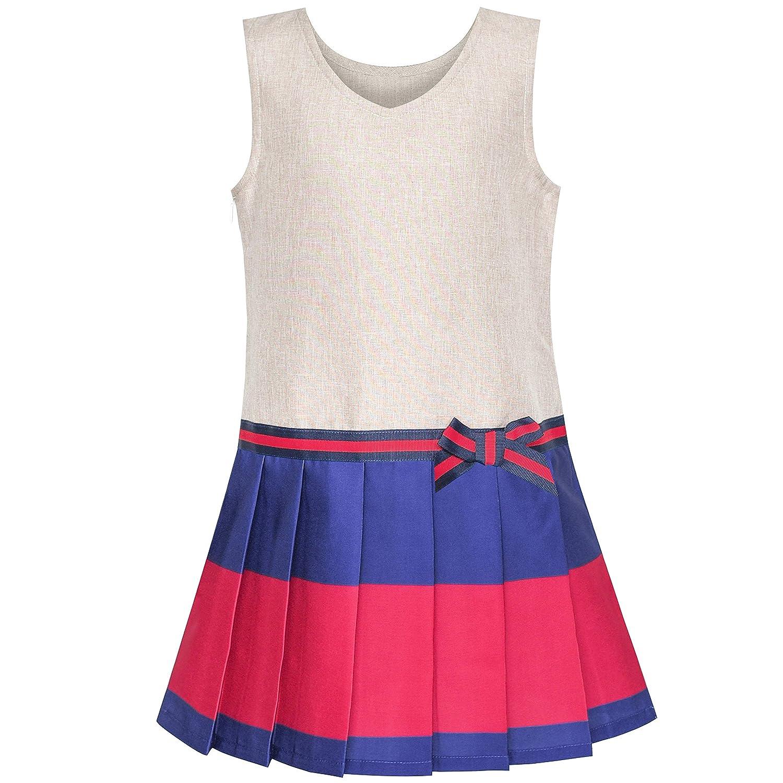 Sunny Fashion Vestido para niña Caqui Colegio Uniforme Plisado Falda 4-12 años: Amazon.es: Ropa y accesorios