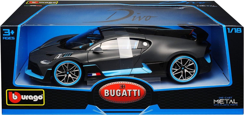 Bugatti Chiron Divo Coupe Grau Version Ab 2018 1//18 Bburago Modell Auto mit individiuellem Wunschkennzeichen