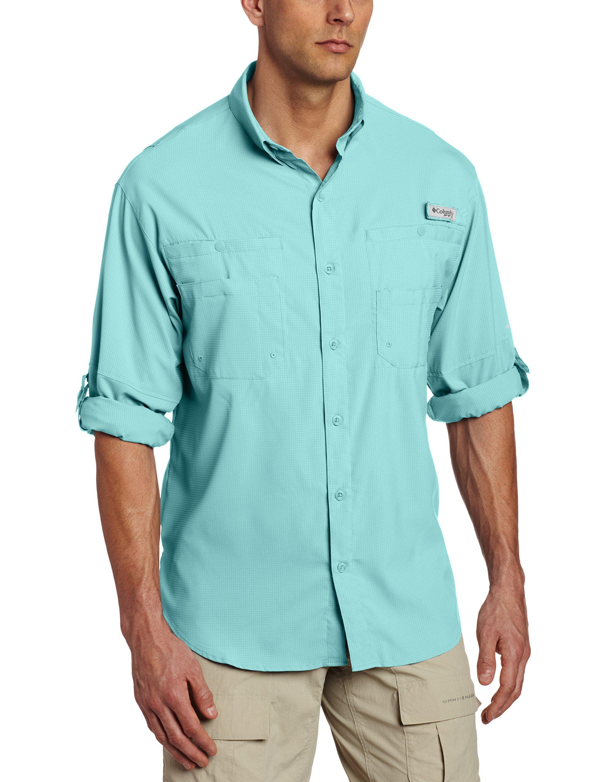 Columbia Men's Plus Tamiami II Long Sleeve Shirt, Moxie - Medium