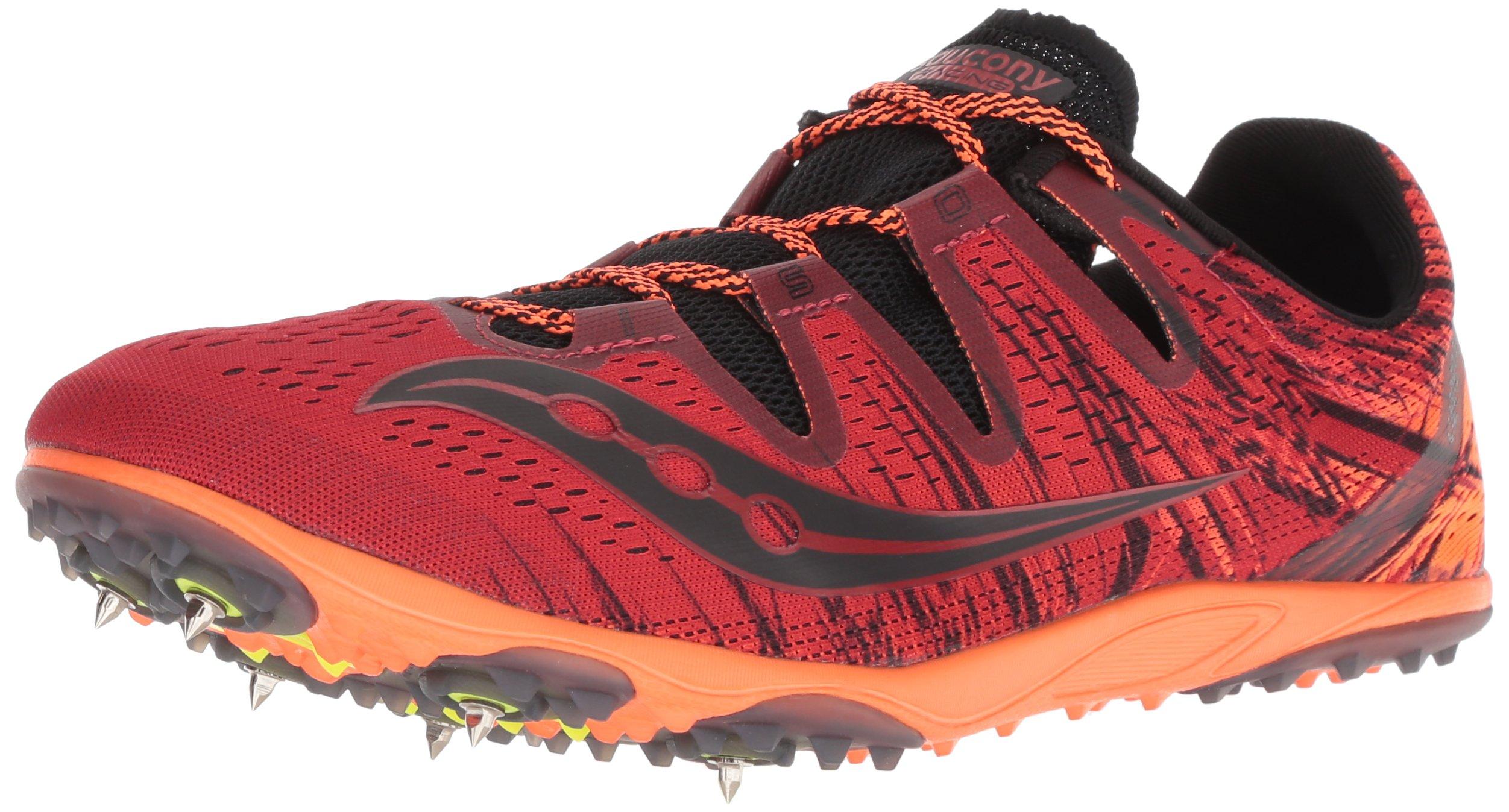 Saucony Men's Carrera XC 3 Track Shoe, red/Orange, 7 M US