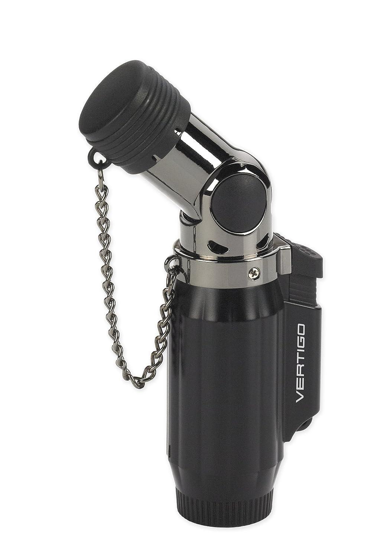 Vertigo Intimidator Quadruple Flame Torch Lighter Black /& Chrome by Integral//Lotus