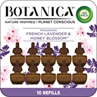 Botanica by Air Wick Plug in Scented Oil, 10 Refills, French Lavender and Honey Blossom, Air Freshener, Eco Friendly, Essential Oils