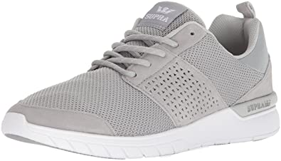 Supra Scissor Skate Shoe, Light Grey/White, 8 Regular US