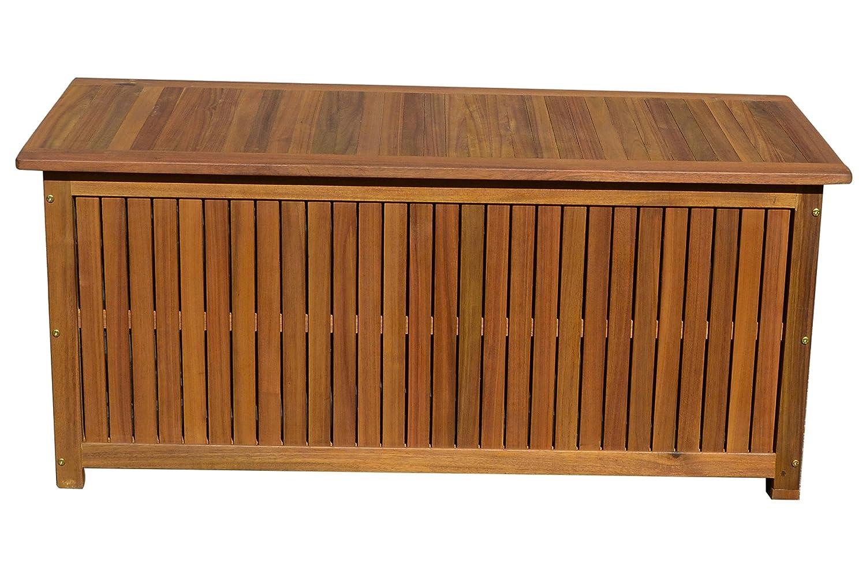 Ploß Kissenbox und Hochwertiger, Aufbewahrungsbox in Natur, Garten-Truhe aus Akazie Holz, Hochwertige Gartenbox von Ploss