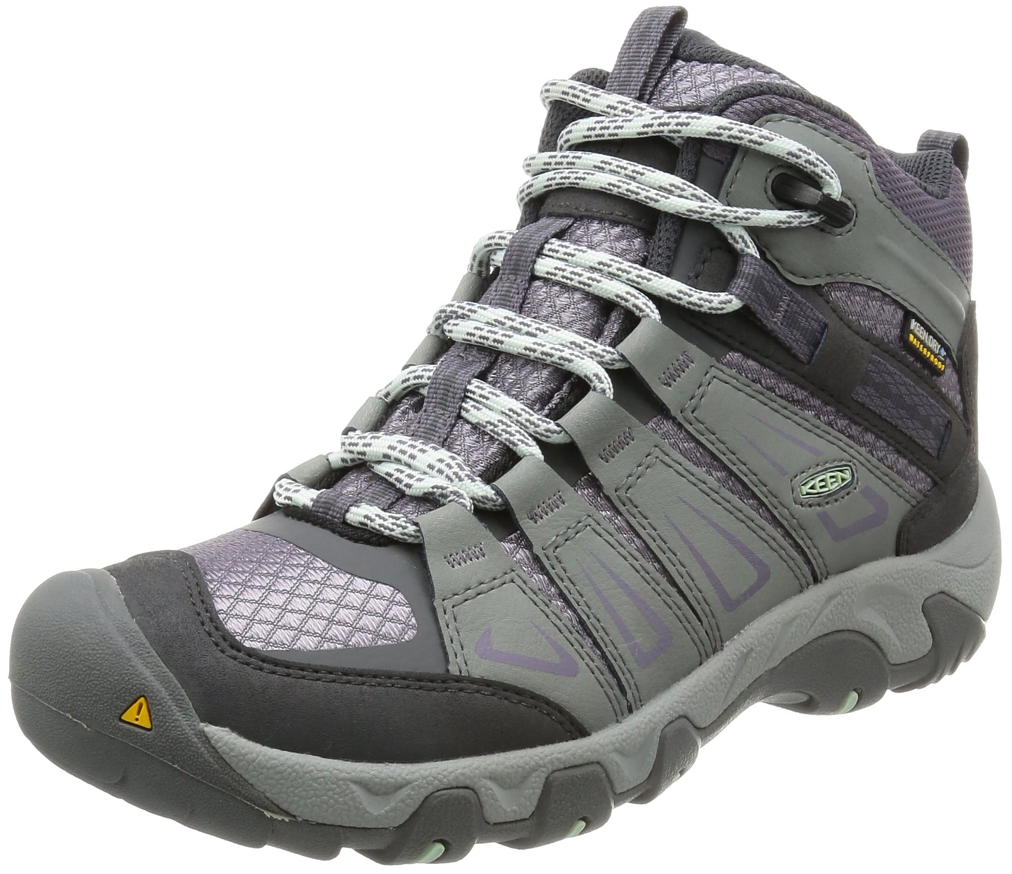 KEEN Women's Oakridge Mid Waterproof Boot, Gray/Shark, 11 M US by KEEN