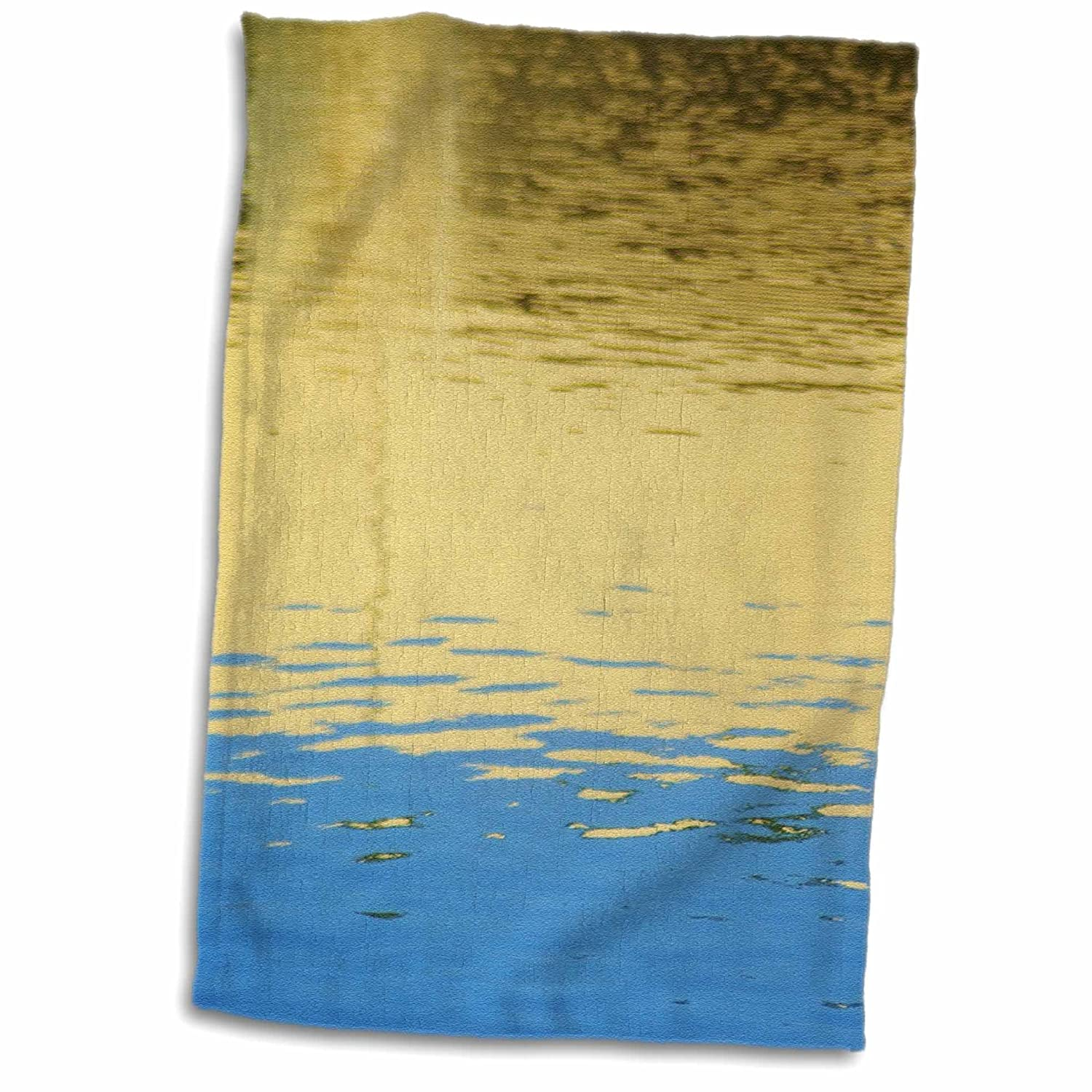 3D Rose Gold Blue Water Reflections TWL_35254_1 Towel 15' x 22'