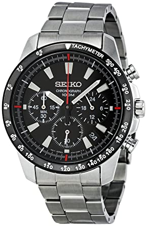 82005835c Amazon.com: Seiko SSB031 Men's Chronograph Stainless Steel Case ...