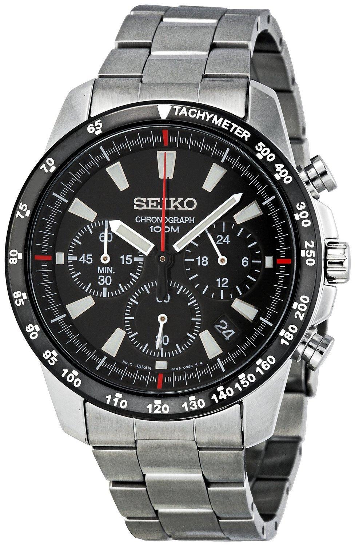 Seiko SSB031 Men's Chronograph Stainless Steel Case Watch by Seiko