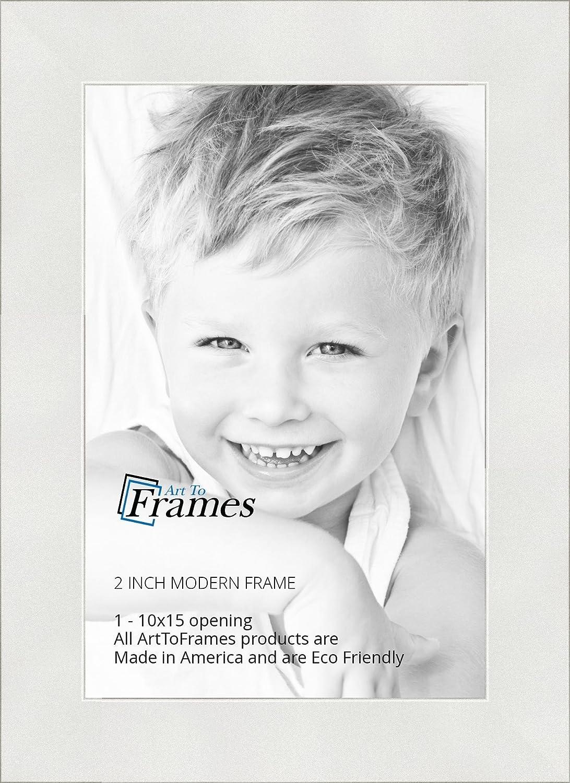 Amazon.com - ArtToFrames 10x15 inch Modern White Frame Picture Frame ...