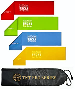 Premium Exercise Band... Fitness & Jogging Tnt Pro Series Workout Resistance Loop Bands For Legs