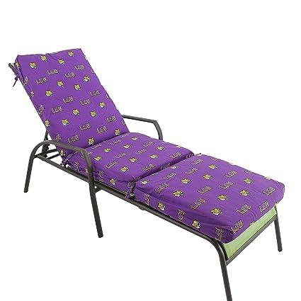 Amazon.com: LSU Tigers chaise longue Cojín Set: Jardín y ...