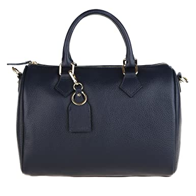 nuovi stili eff4c fe42f Chicca Borse Handbag Bauletto Borsa a Mano da Donna con Tracolla in Vera  Pelle Made in Italy 30x23x18 Cm
