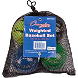 Champion Sports Weighted Baseball Set: Official Size Colorful Baseballs for Kids, Boys & Girls - Youth League Training & Pitching Equipment - 4 Balls