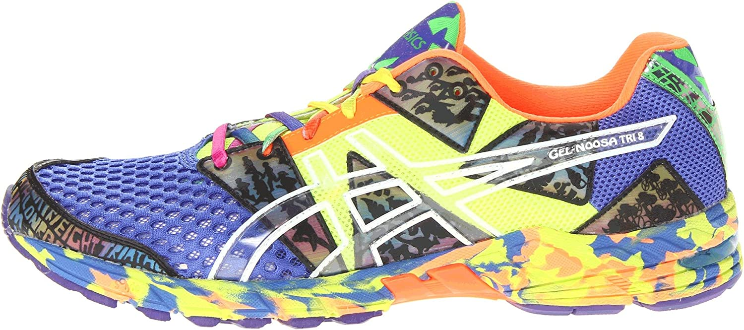 fedfbb92886e ... official sale amazon asics mens gel noosa tri 8 running shoe french  blue flash yellow punch