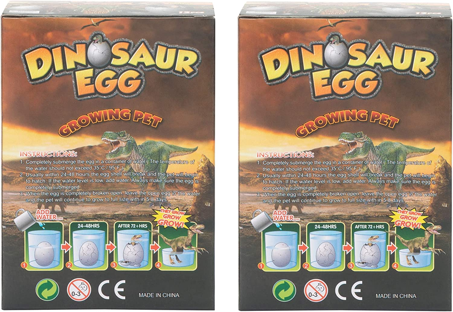 4X Magic Hatching Dinosaur Add Water To Grow Dino Egg Inflatable