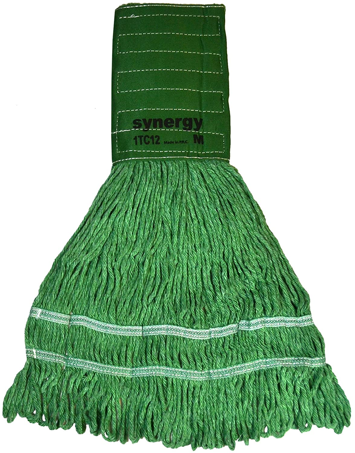 Pack of 12 Golden Star ASW16GM9 Synergy Looped End Wet Mop Head
