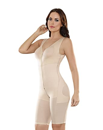 1ce08767a6 Faja Bodysuit Full Body Powernet Bra Body Briefer Shapewear Women Beige