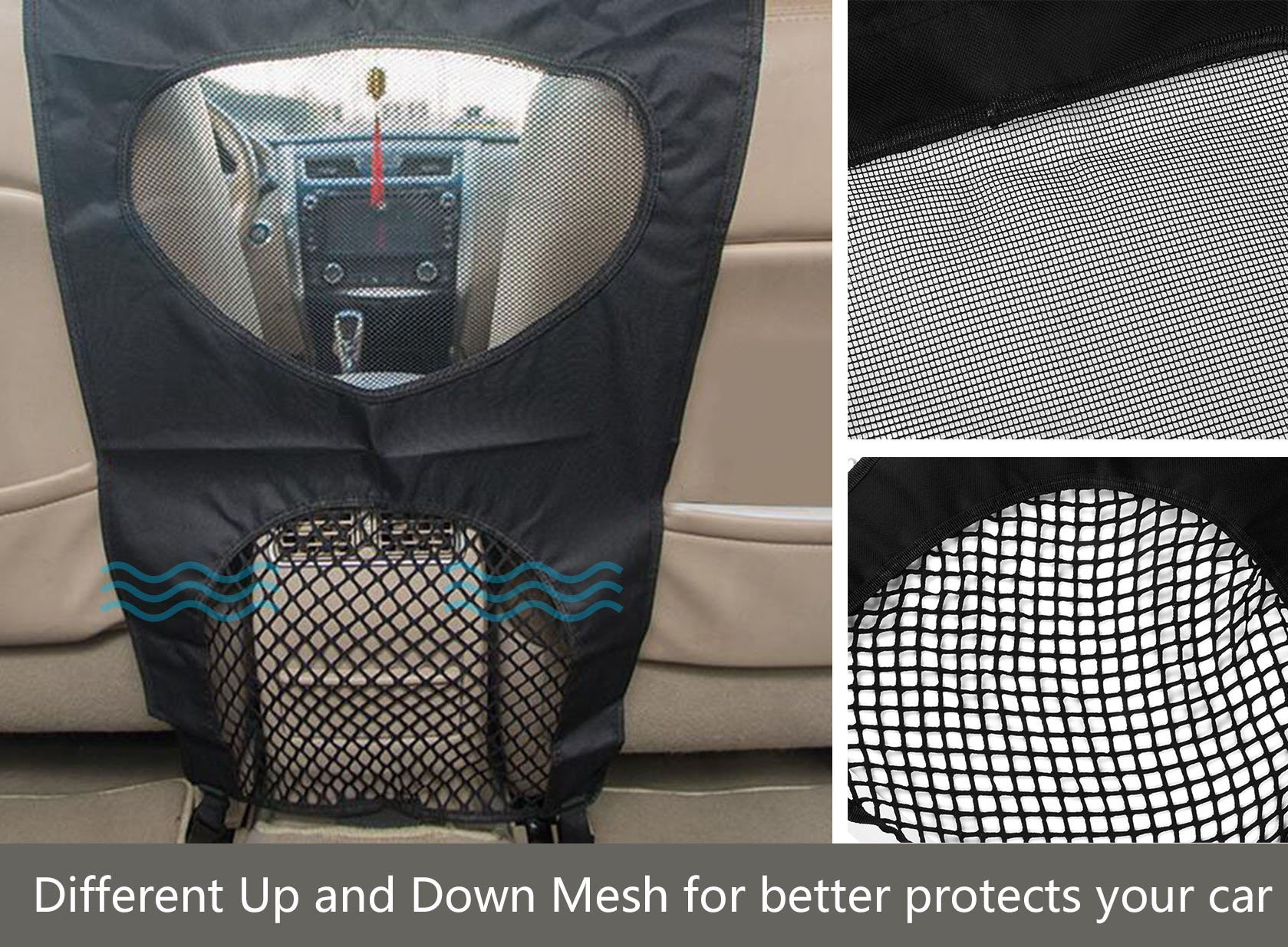 Lifepul Pet Net Barrier (TM) Dogs Backseat Barrier Mesh Obstacle Dog Car Fence Mesh, to Keep Your Pets and Drivers Safety inTravel, One Size Fit Most & Easy to Install for Car,SUV,Truck, by Lifepul (Image #5)