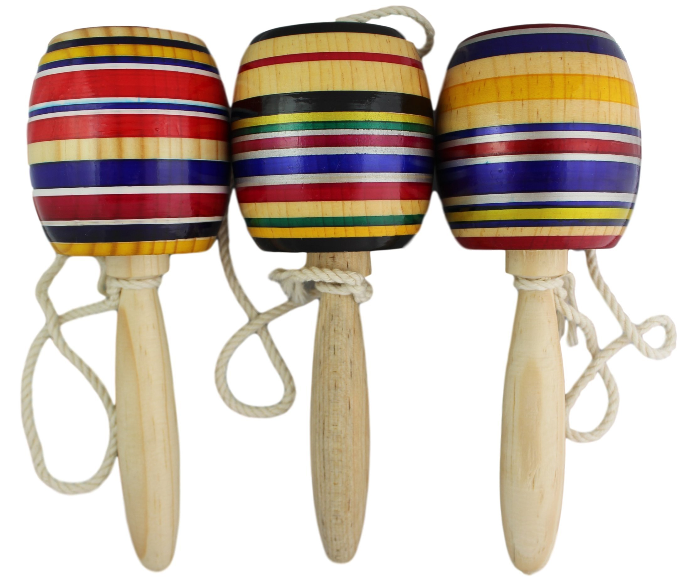 Trade MX 3 Pack Wooden Baleros Made in Mexico Premium Quality (3 Pack, Assorted Colors)