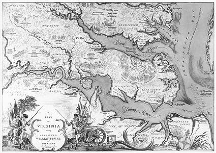 Amazon.com: Historic Map | A Part of Virginia Showing Jamestown ...