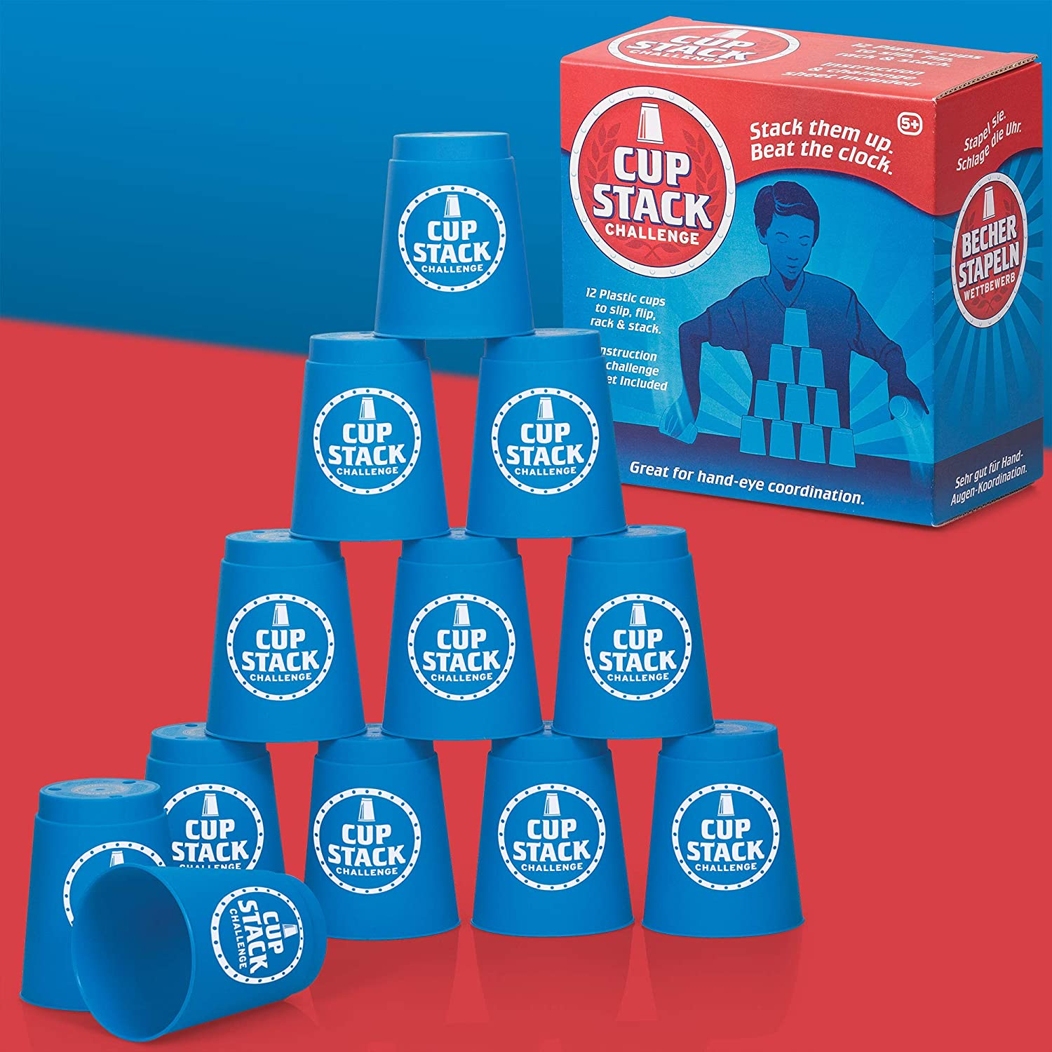 Quick Speed Cup Stack Stacking Challenge Competition Party Game Toy 19611