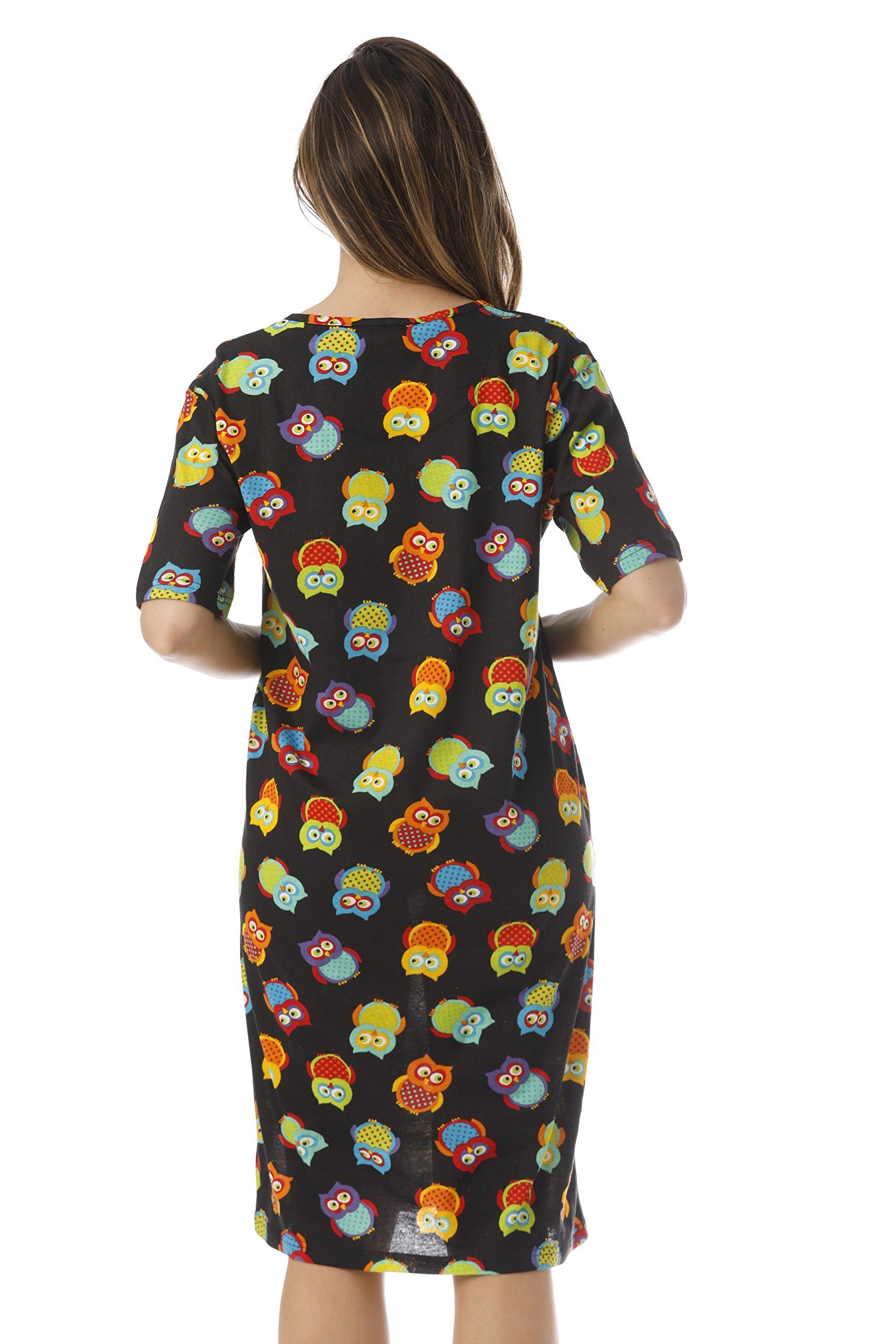 Just Love Short Sleeve Nightgown Sleep Dress for Women Sleepwear 4360-10292-3X by Just Love (Image #3)