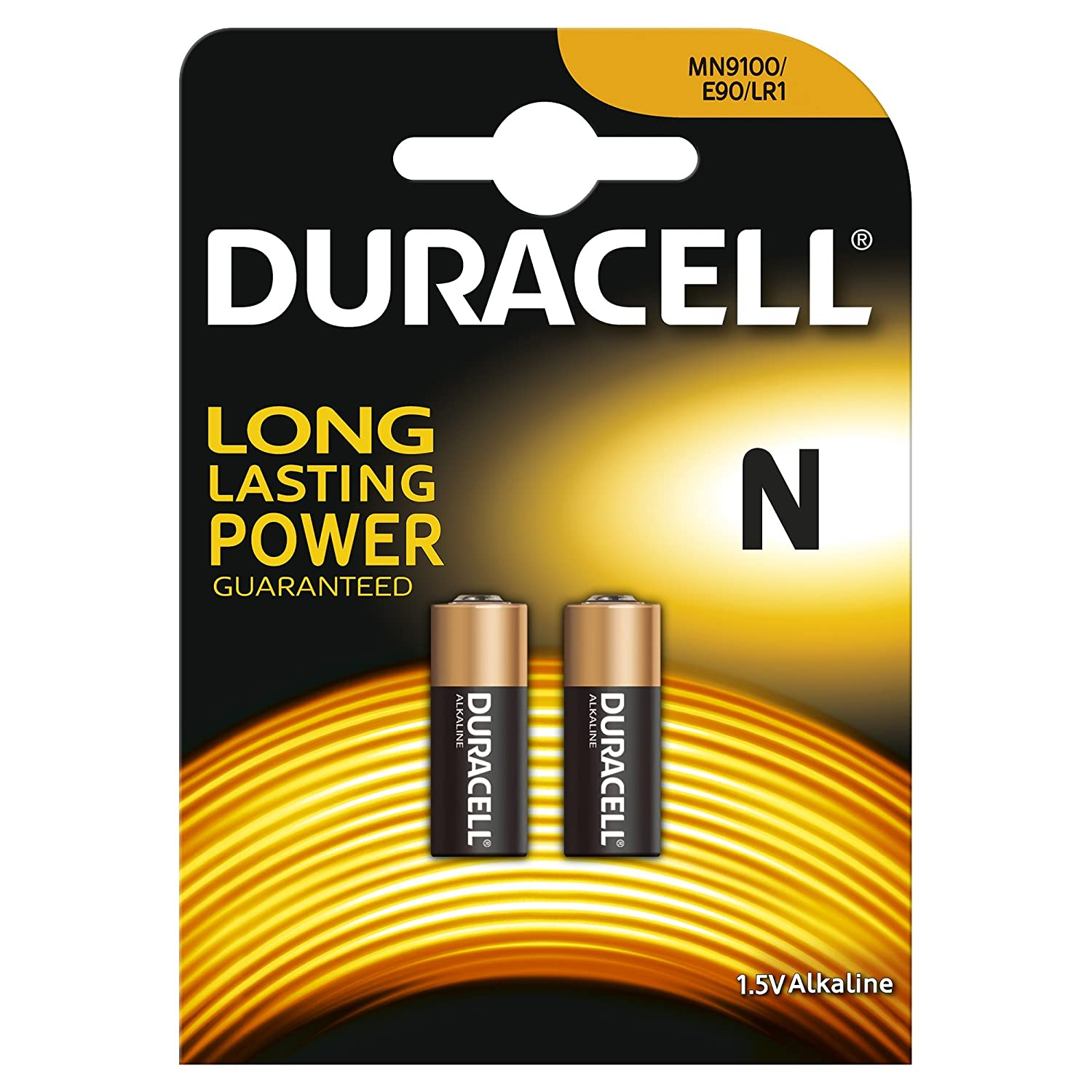 Pack of 2 Duracell MN9100 N 1.5V Alkaline Battery LR1 E90 KN