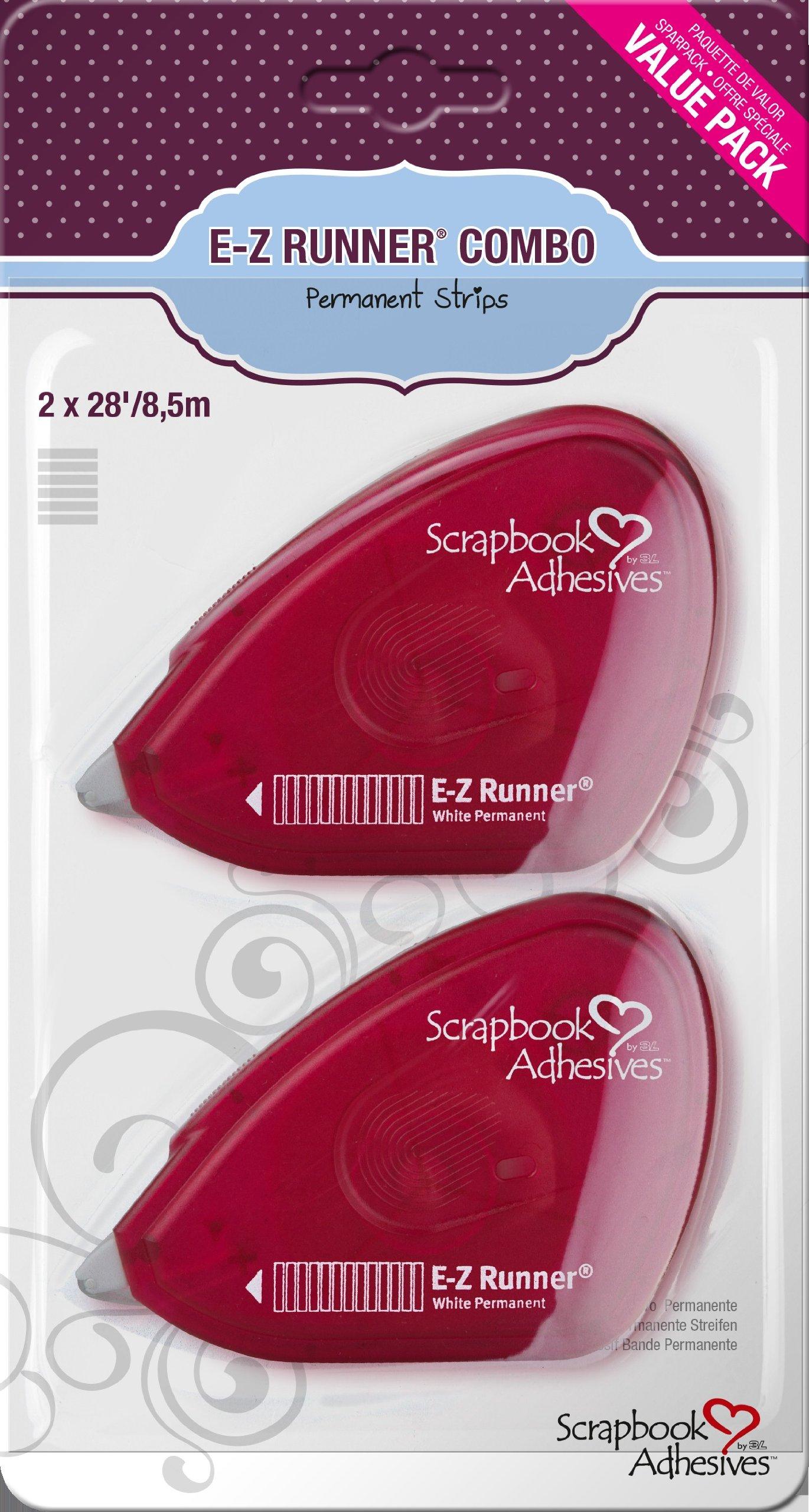 3L Scrapbook Adhesives E-Z Runner Permanent Adhesive Dispenser, 28 Feet, 2-Pack