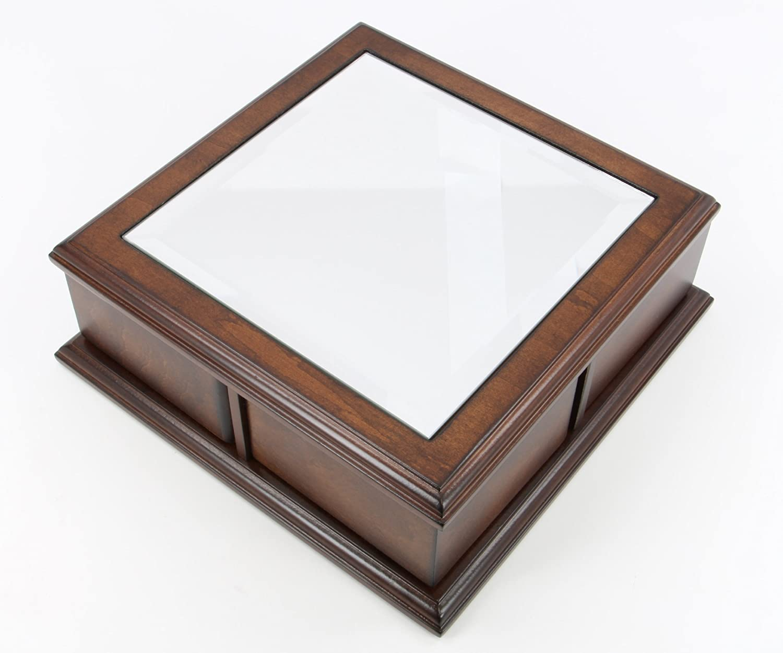 Handmade classic wooden jewelry Box brass finish (brown) DB-10621
