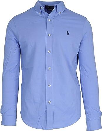 Ralph Lauren Luxury Fashion 710654408017 - Camisa azul para ...
