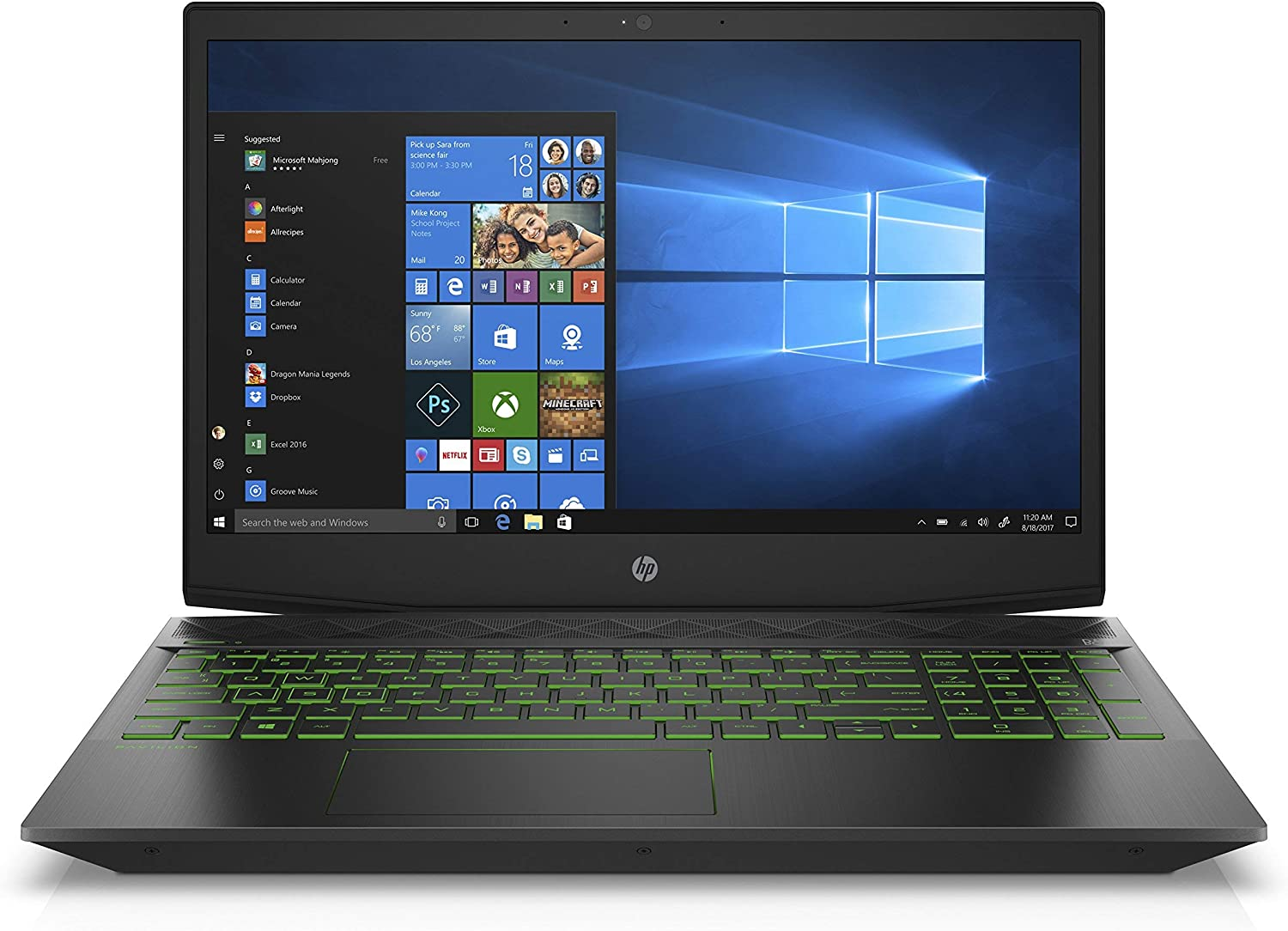 HP Pavilion Gaming 15-inch Laptop, Intel Core i5-8300H Processor, NVIDIA GeForce GTX 1050 Ti 4 GB, 8 GB RAM, 1 TB hard drive and 128 GB SSD, Windows 10 Home (15-cx0030nr, Black) (Renewed)