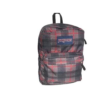 JanSport SUPERBREAK Backpack - RED TAPE KNIT PLAID (1550 cu.in. )