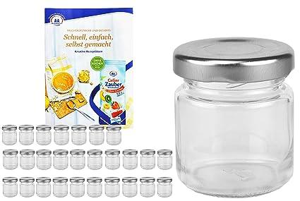 Horno desmoldable Set Tarros de cristal (53 ml Tapa Color Plata to ...