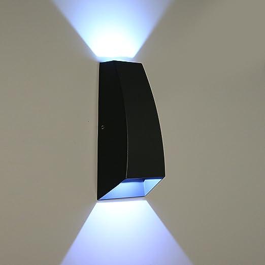Lightsjoy 6w Applique Murale Exterieur Ou Interieure En Aluminium Etanche Ip54 Lampe De Haut En Bas Design Eclairage Decoration Eclairage Design Pour