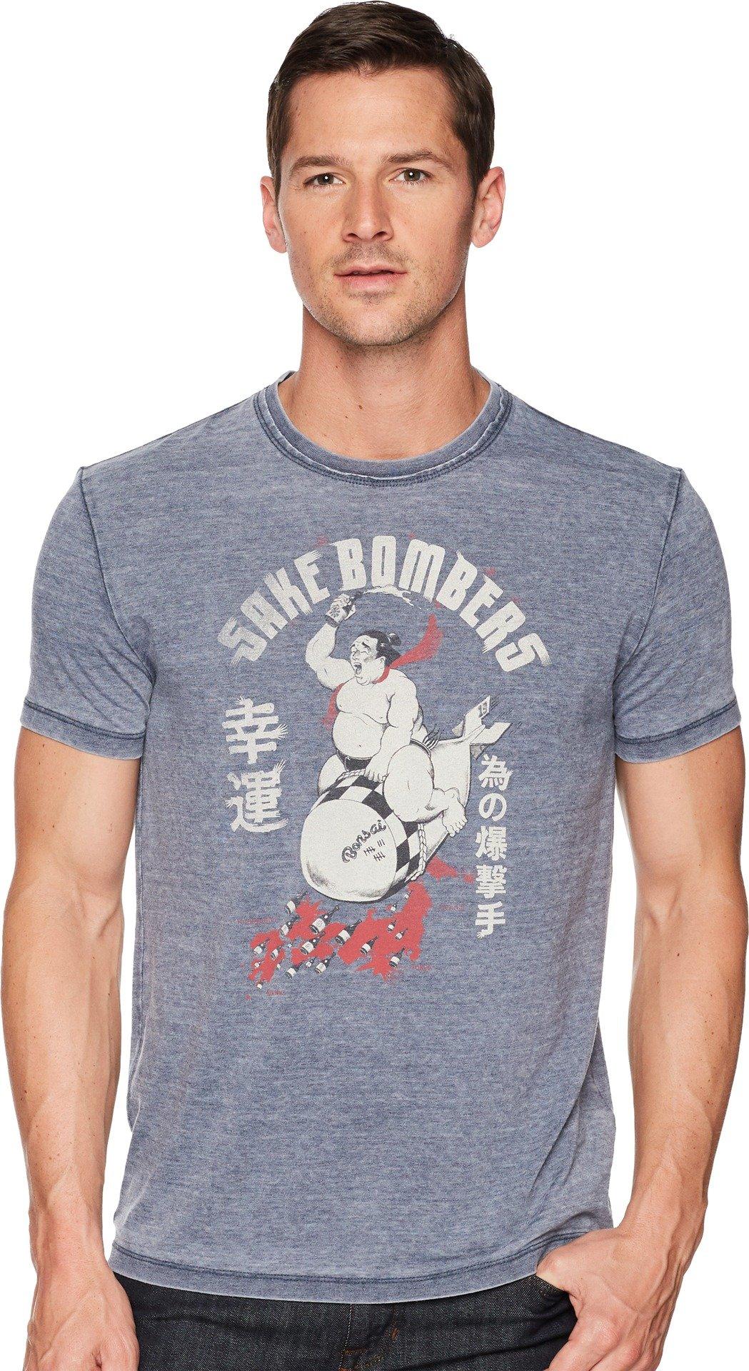Lucky Brand Men's Sake Bomb Graphic TEE, American Navy, M