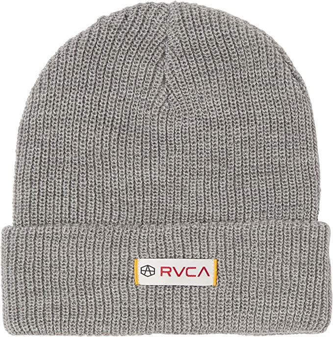6372a1f3761 RVCA Men s Andrew Reynolds Knit Beanie Heather Grey One Size  Amazon.ca   Clothing   Accessories