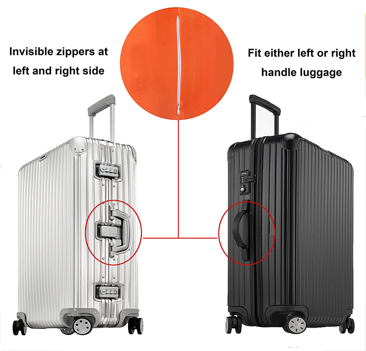 Amazon.com: Reliancer Travel Luggage Cover Spandex Suitcase Protector Fits 18-32 Inch Luggage Washable Elastic Suitcase Bag Cover Stretchy Dustproof Travel ...